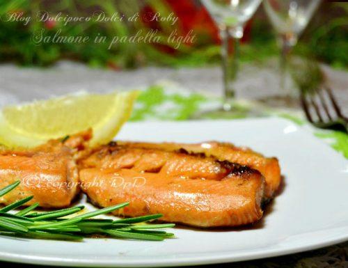 Salmone in padella light