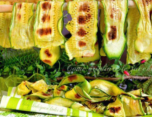 Come grigliare le zucchine