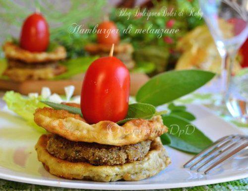 Hamburger di melanzane ricetta con pane raffermo