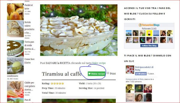 1) Tiramisù al caffè MAKE RECIPE