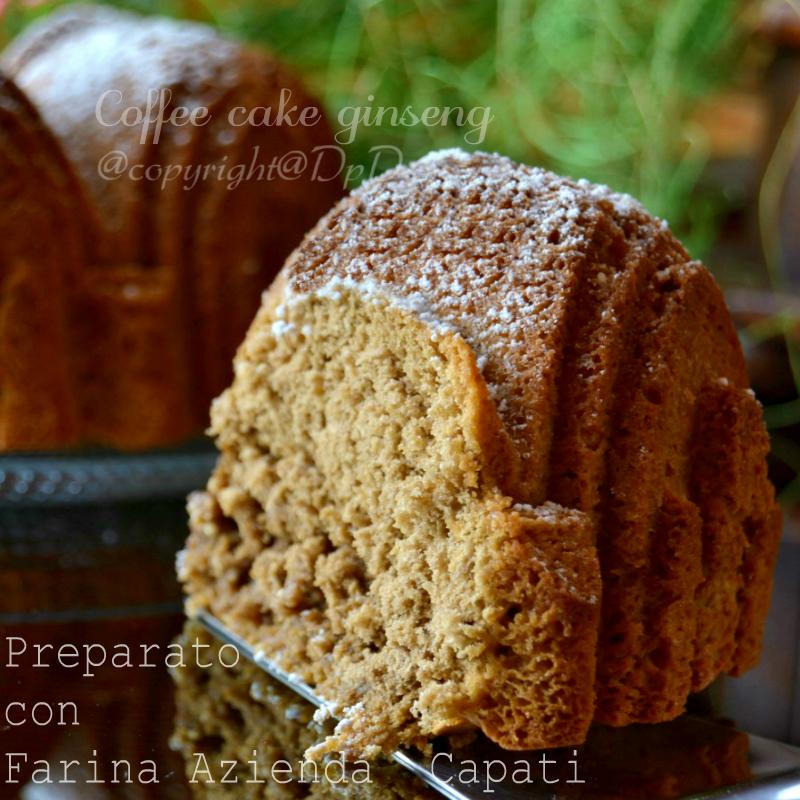 Coffee cake ginseng