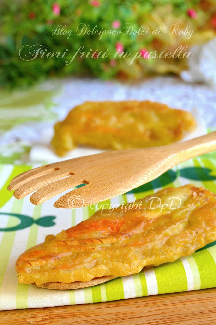 Fiori fritti in pastella