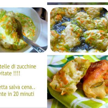 Frittelle di zucchine lievitate