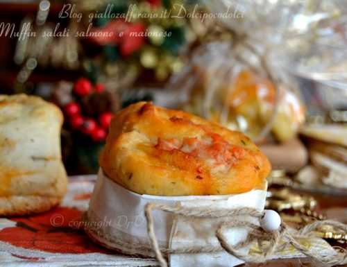 Muffin salati salmone e maionese