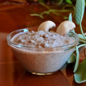 Condimento per pasta veloce alla ricotta e crema di funghi 001