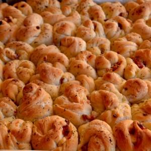Ricetta focaccia con rose di pane 7