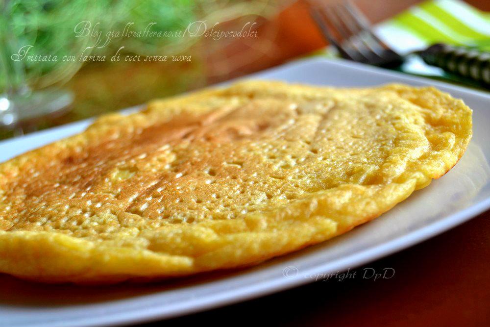 Frittata con farina di ceci senza uova 05