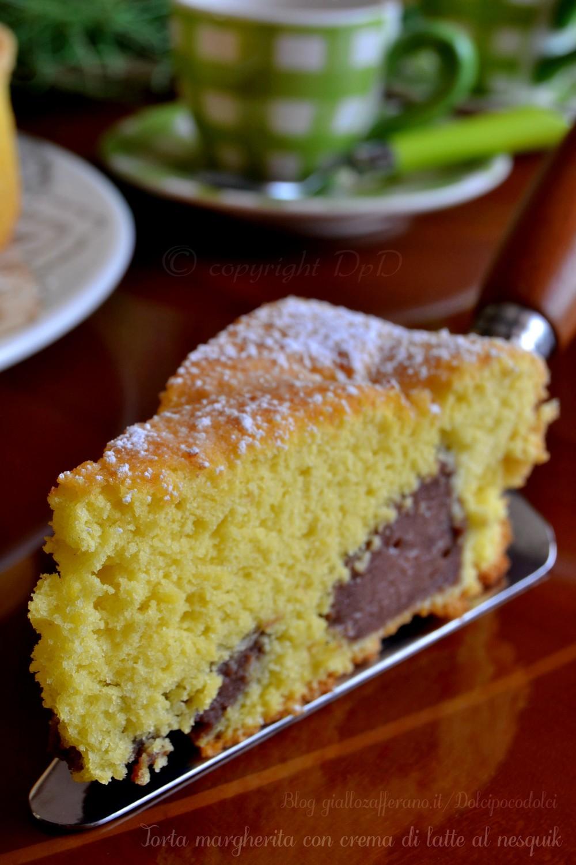 Torta margherita con crema di latte al nesquik 1