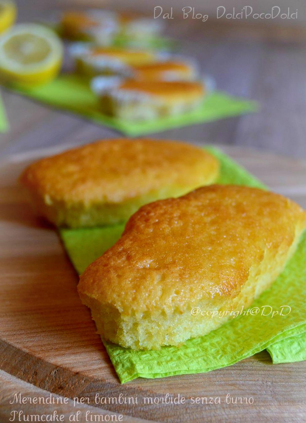 Merendine per bambini morbide senza burro, plumcake al limone 1