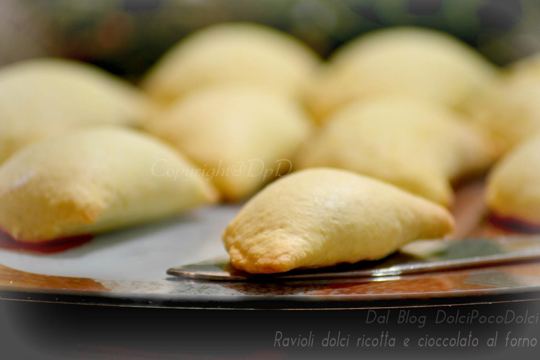 Ravioli dolci ricotta e cioccolato al forno 1- .
