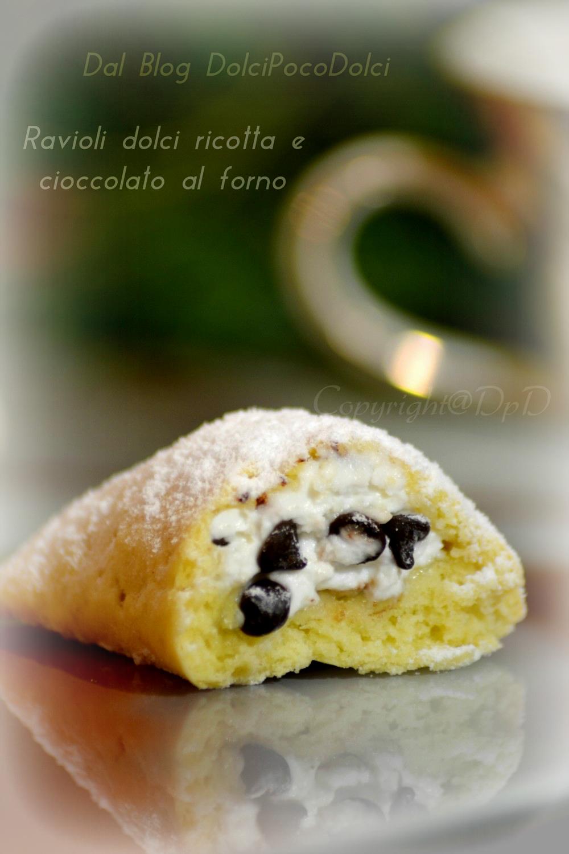 Ravioli dolci ricotta e cioccolato al forno 3 .-