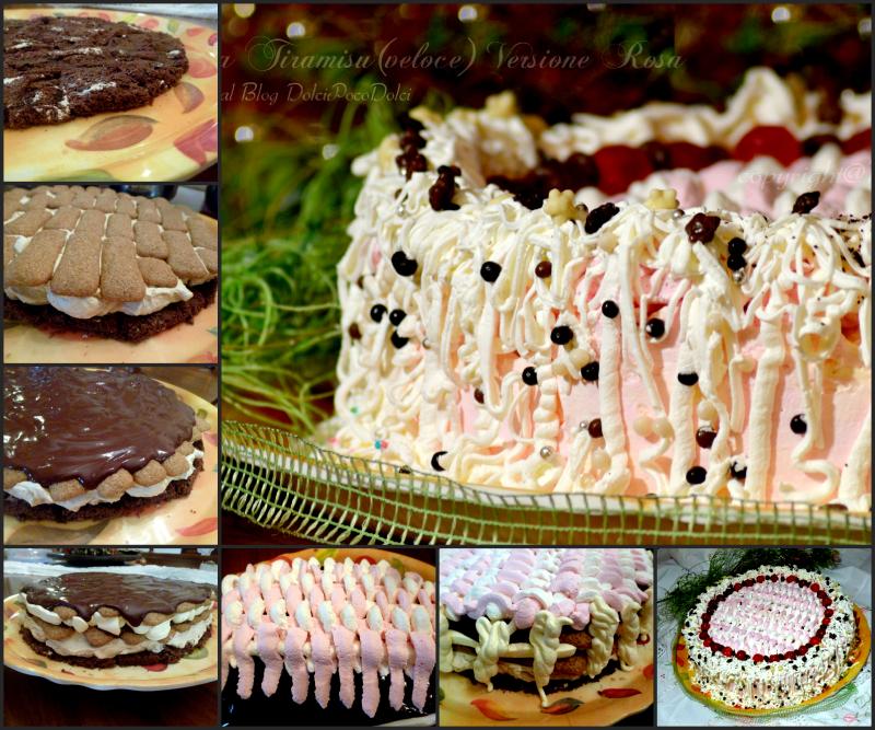 Torta tiramisu veloce versione rosa