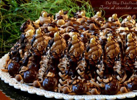 Torta al cioccolato veloce solo merendine al cocco e crema fredda