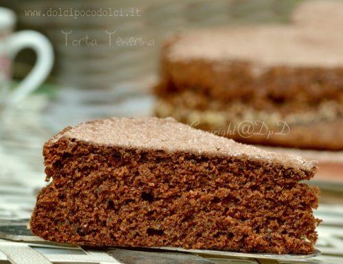 Torta tenerina dolce al cioccolato fondente