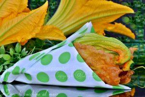 Fiori di zucchine al mais