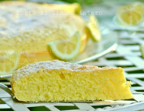 Torta al limone intero