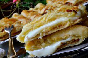 Crostata salata veloce zucchine formaggio e prosciutto