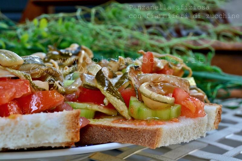 Panzanella sfiziosa con fiammiferi di zucchine 7