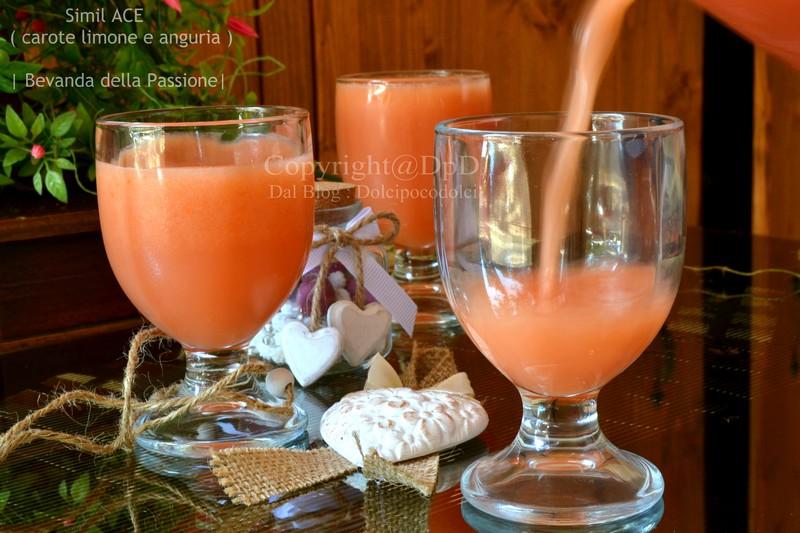 Bevanda simil ACE carote limone e anguria