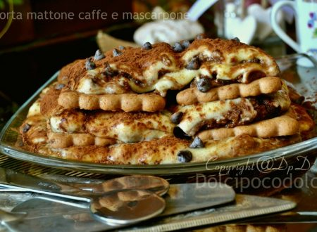 Torta mattone caffè e mascarpone o mattonella veloce senza burro