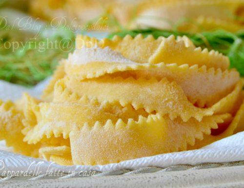 Pappardelle fatte in casa | Ricetta pasta fresca