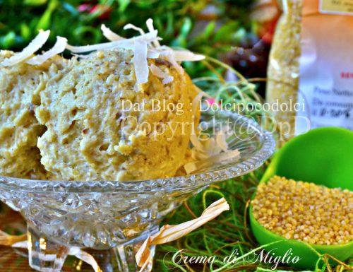 Crema di miglio come condimento per pasta
