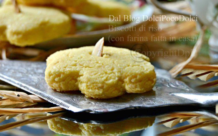Biscotti di riso con farina fatta in casa