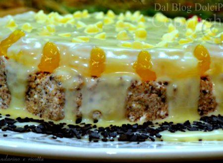 Cheesecake mandarino e ricotta stracciatella