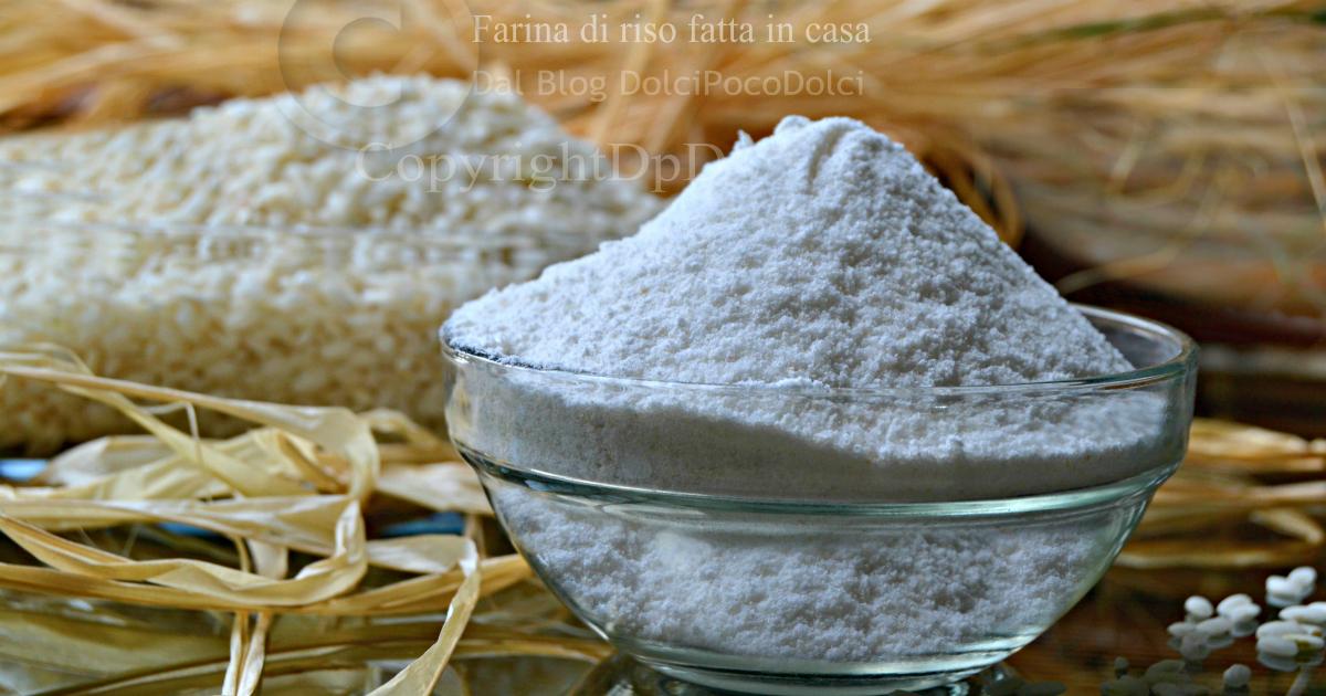 Farina di riso fatta in casa