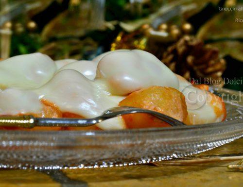 Gnocchi alla crema di peperoni con ricotta e fonduta