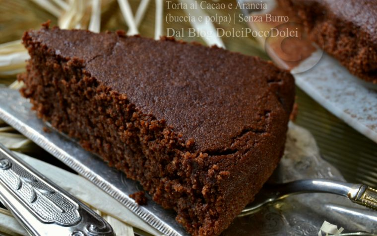 Torta al cacao e arancia buccia e polpa | senza burro