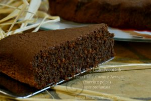 Torta caffè cacao e arancia buccia e polpa | senza burro