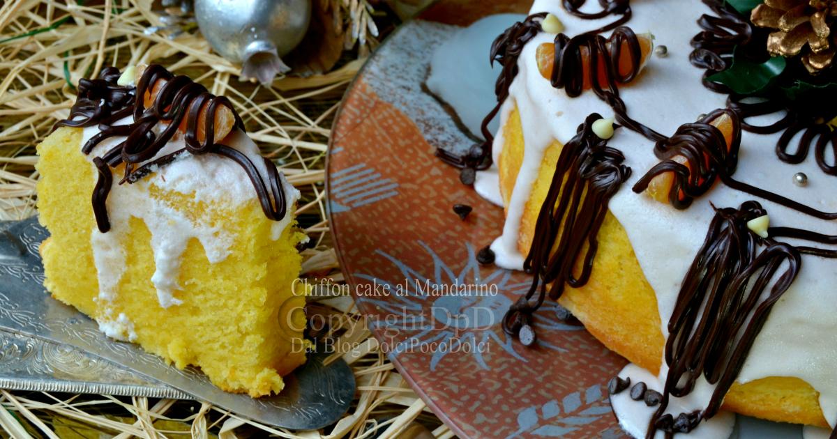 Chiffon cake al mandarino
