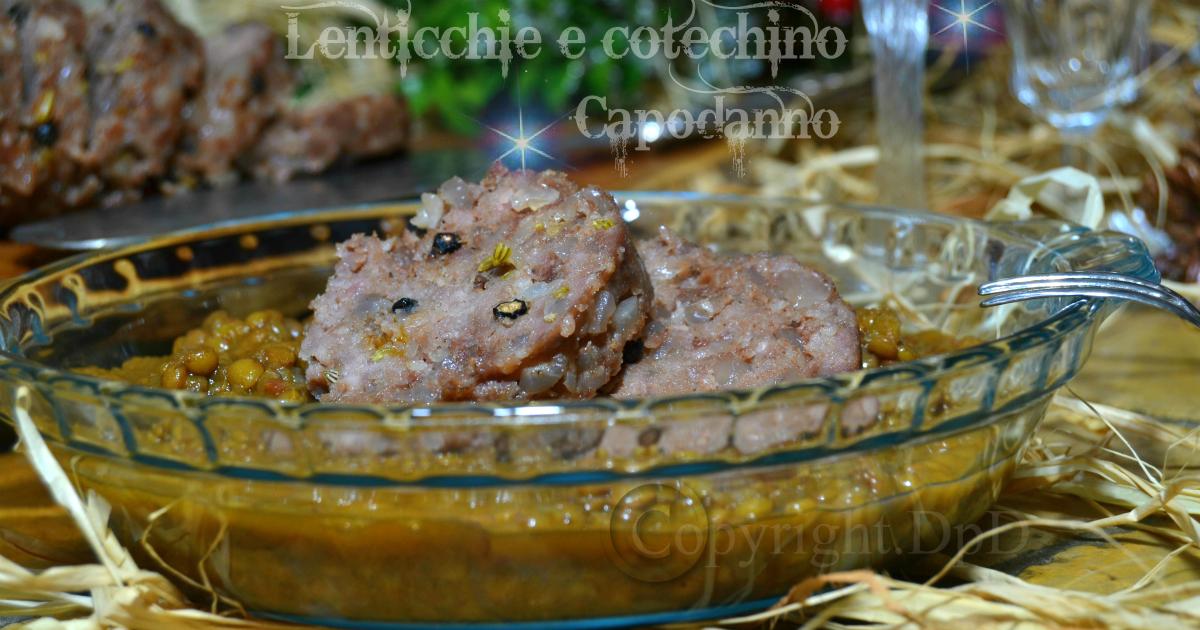 Lenticchie e cotechino Capodanno Ricetta bimby o pentola ...