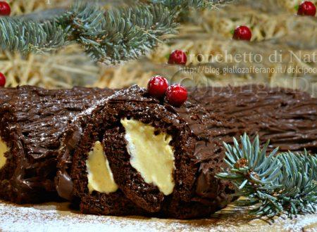 Tronchetto di Natale – biscotto – namelaka – ganache