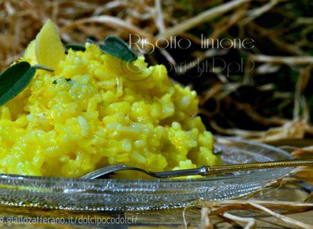 Risotto limone zenzero e salvia primo piatto 10 minuti