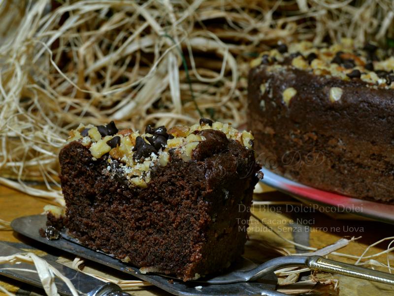 Torta cacao e noci