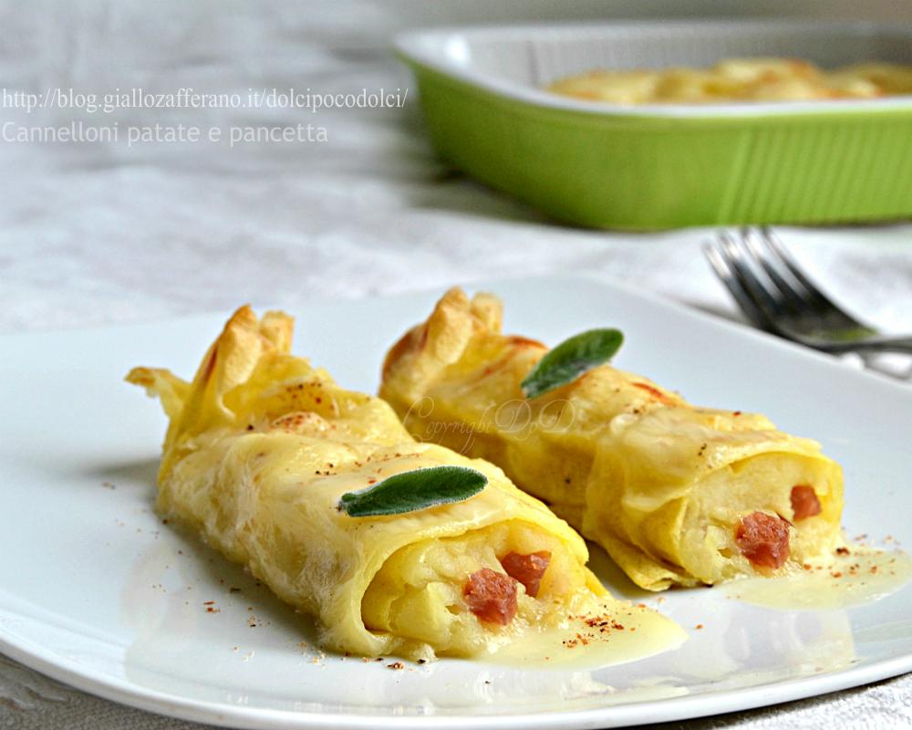 Cannelloni patate e pancetta