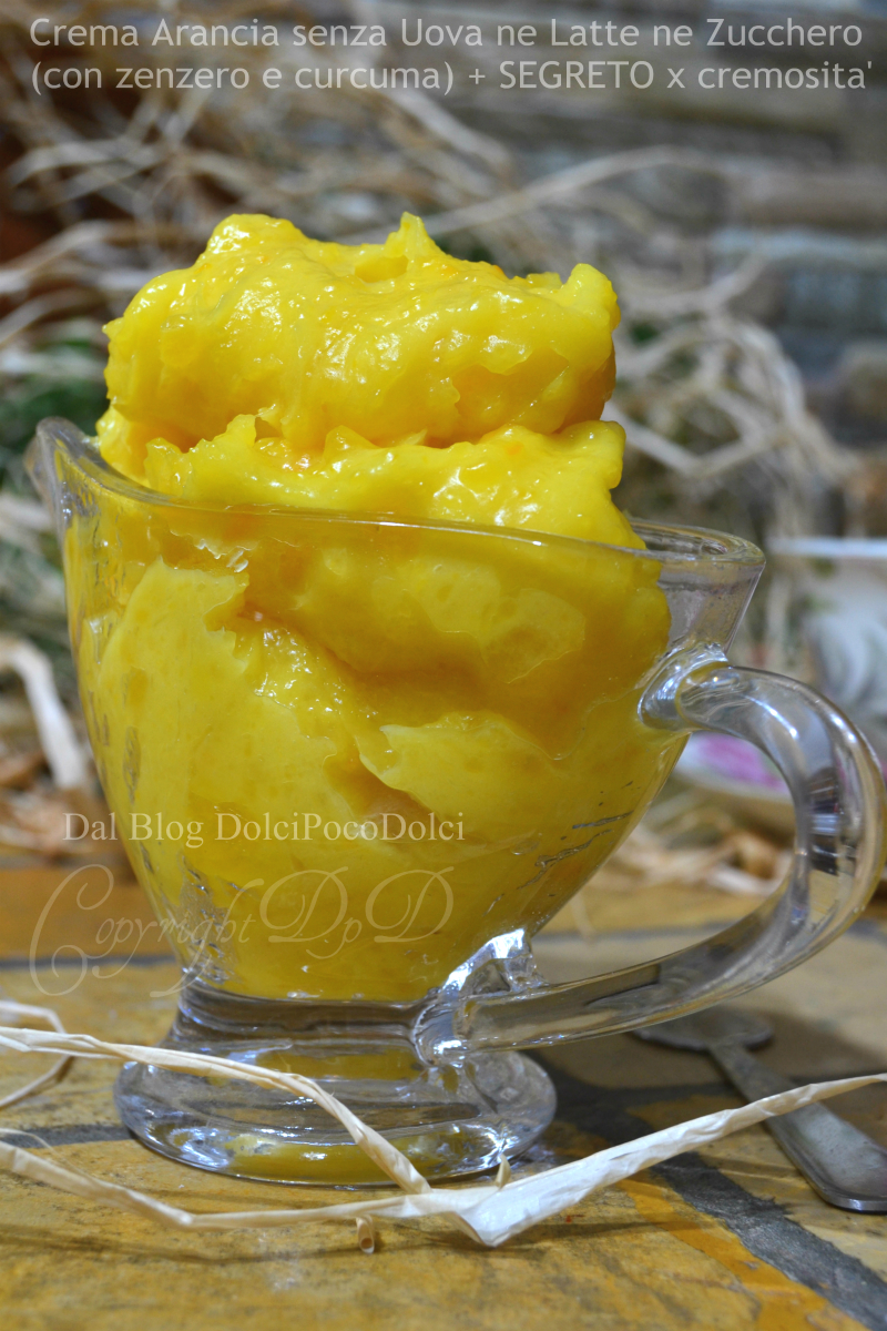 Crema arancia senza uova