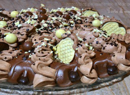 Torta di compleanno veloce senza forno (ricotta panna cioccolato)