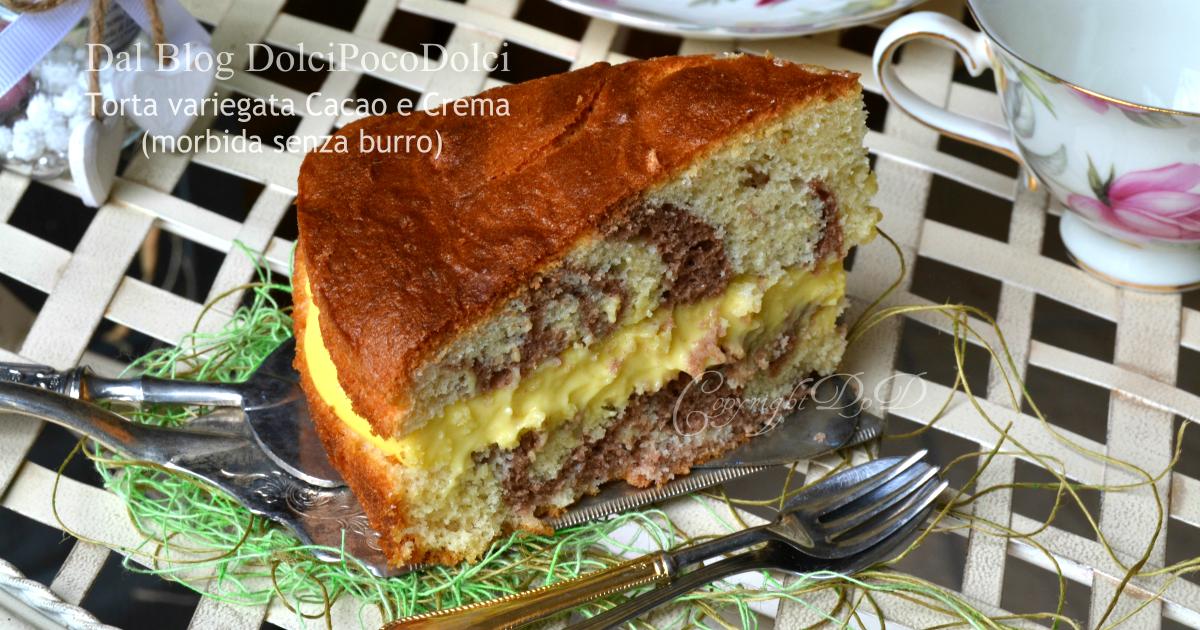 Torta variegata cacao e crema