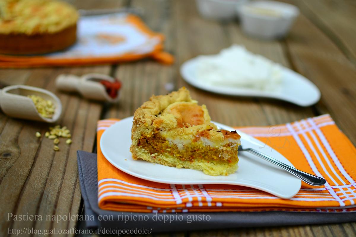 Pastiera napoletana con ripieno doppio gusto