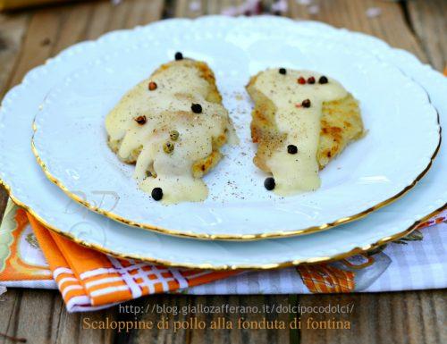 Scaloppine di pollo alla fonduta di formaggio fontina