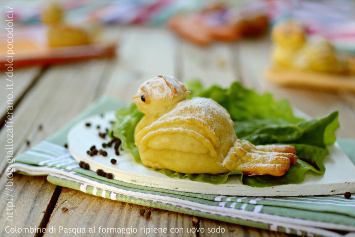 Colombe di Pasqua formaggio e uova sode
