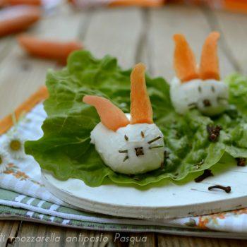 Coniglietti mozzarella antipasto Pasqua