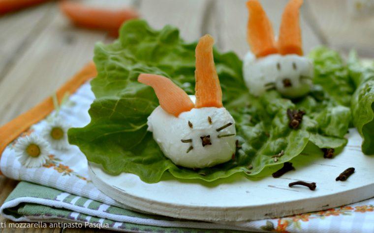 Coniglietti mozzarella ricetta antipasto pasqua