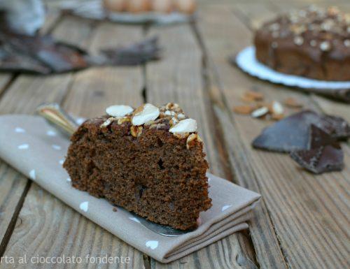 Torta al cioccolato fondente senza zucchero