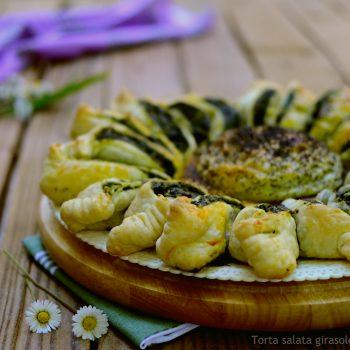 Torta salata girasole ricotta e spinaci