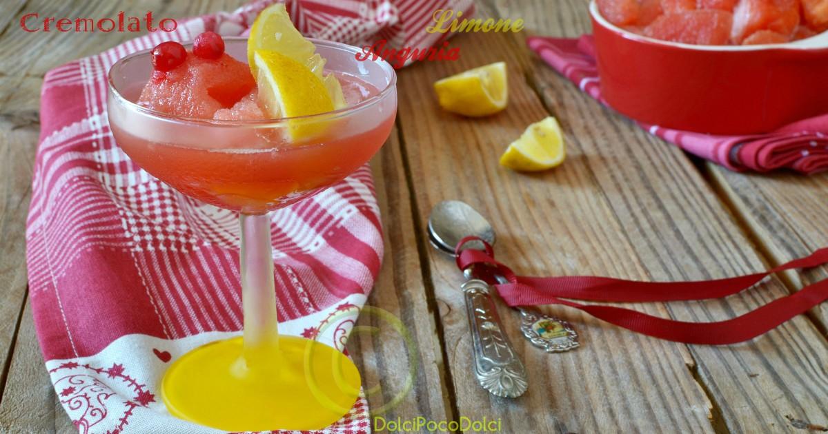 Cremolato di anguria e limone