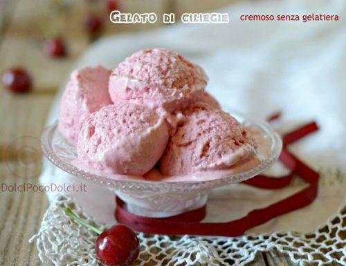 Gelato di ciliegie senza gelatiera